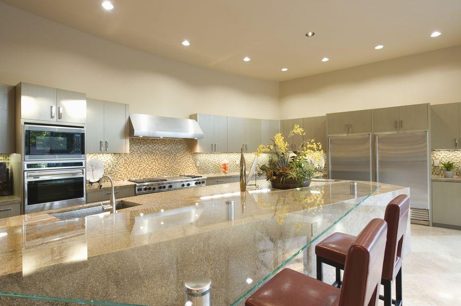 glas als Küchenmaterial